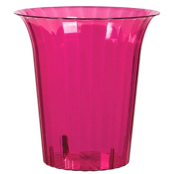 Bright Pink Plastic Flared Cylinder Container