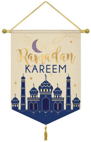 Ramadan Kareem Hanging Canvas Sign