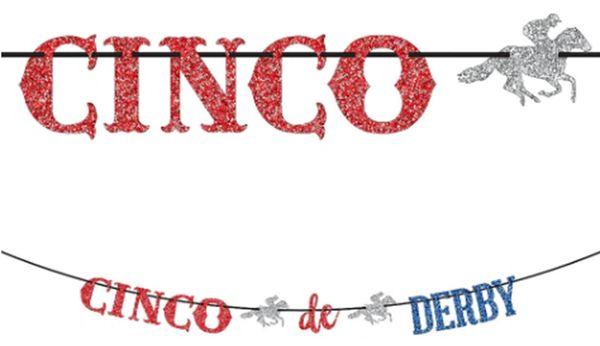 Cinco De Derby Ribbon Letter Banner, 12ft