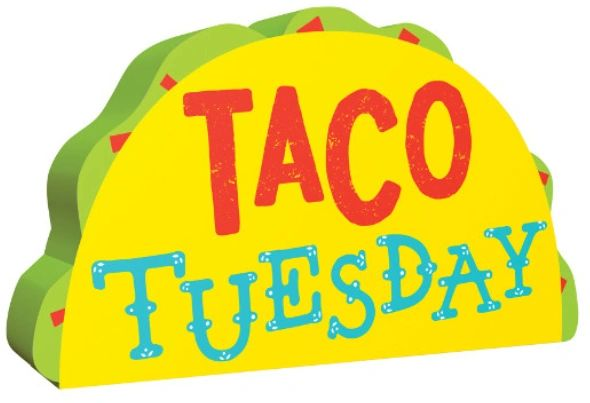 Mini Standing Taco Tuesday Sign