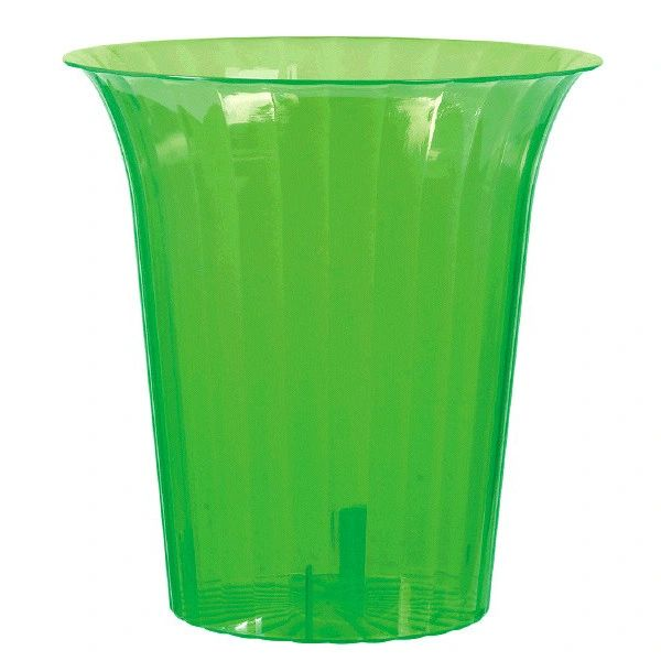 Kiwi Plastic Flared Cylinder Container