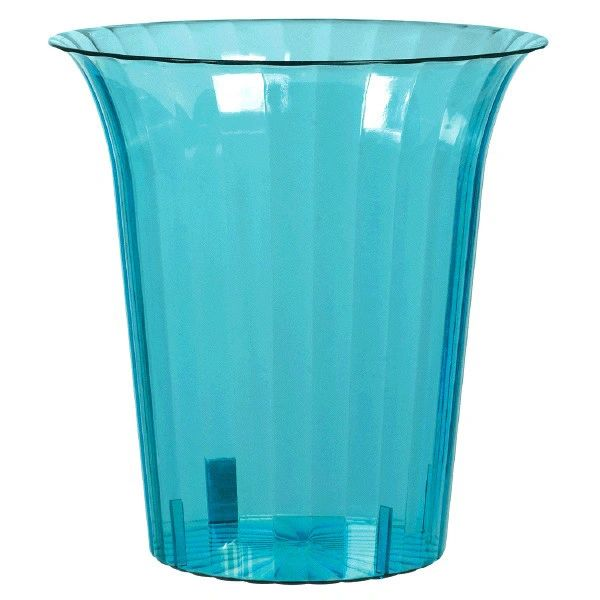 Caribbean Blue Plastic Flared Cylinder Container
