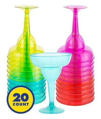 Margarita Glasses - Fiesta Colors, 10oz - 20ct
