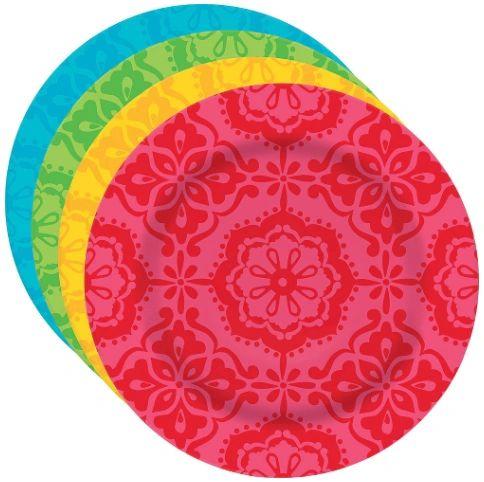 """Fiesta Melamine Dessert Plates, 7"""" - 4ct"""
