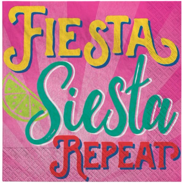 Fiesta Siesta Repeat Beverage Napkins, 16ct