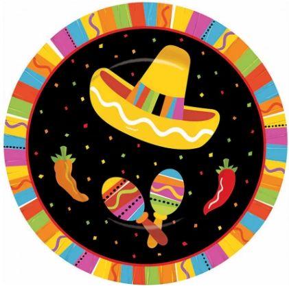 """Fiesta Fun Round Dessert Plates, 7"""" - 8ct"""