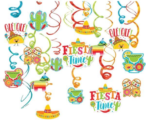 Fiesta Mega Value Pack Foil Swirls, 30ct