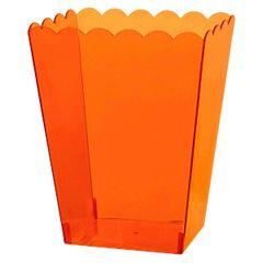 Small Orange Plastic Scalloped Container