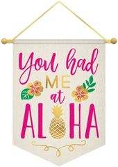 Aloha Hanging Canvas Sign