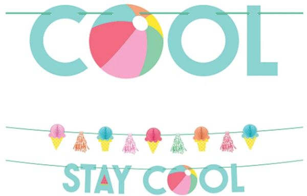 Just Chillin' Stay Cool Banner Kit, 2pc