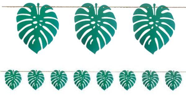 Aloha Palm Leaf Banner