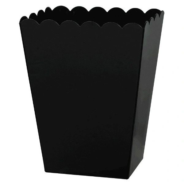 Small Black Plastic Scalloped Container