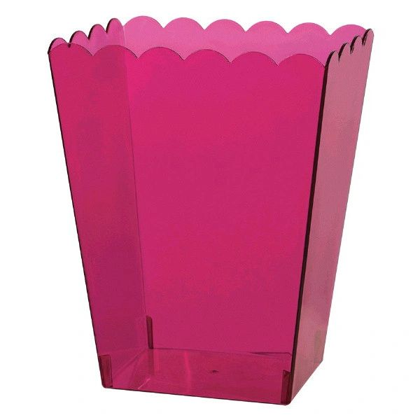 Small Bright Pink Scalloped Container