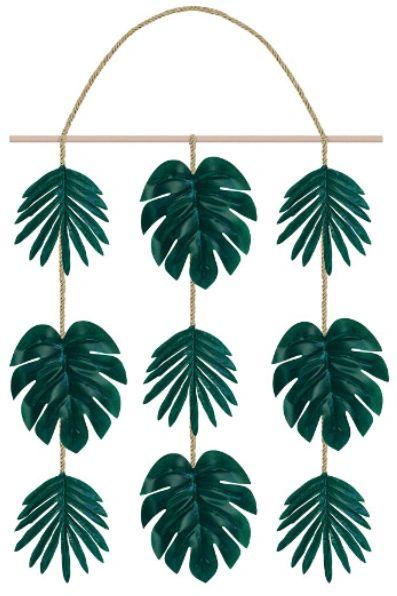Faux Palm Leaf Hanging Decor