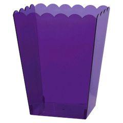 Small New Purple Plastic Scalloped Container