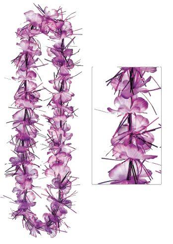 "Purple Tinsel Lei, 40"""