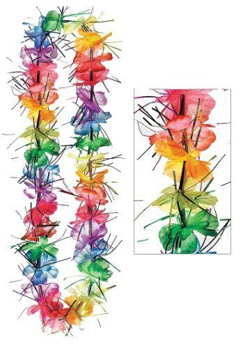 "Rainbow Tinsel Lei, 40"""