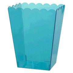 Caribbean Blue Scalloped Container, Medium