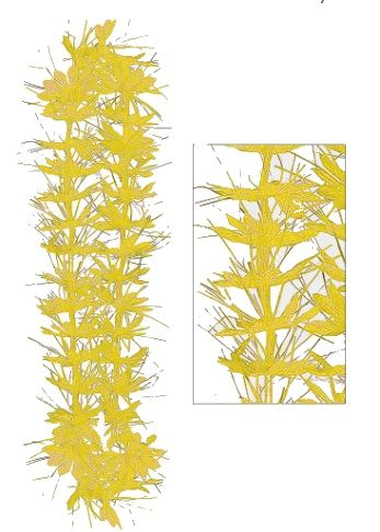 Yellow Tinsel Lei, 40""