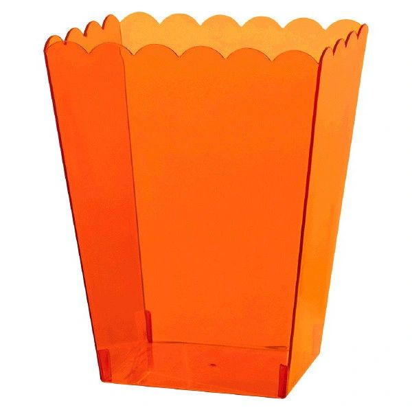 Large Orange Plastic Scalloped Container