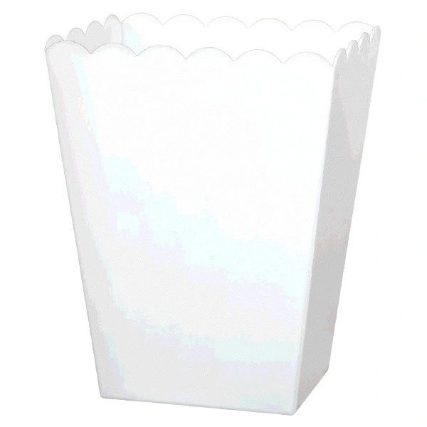 Large White Plastic Scalloped Container