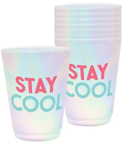 Just Chillin' Frosted Plastic Tumblers, 14oz - 8ct
