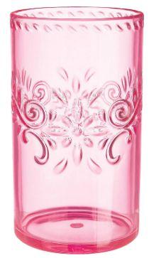 Pink Floral Highball Tumbler, 12oz