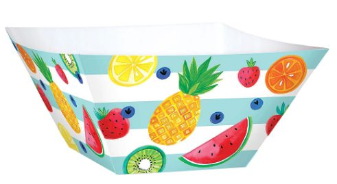Fruit Large Square Paper Bowls, 3ct
