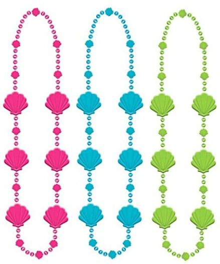 "Beaded Shell Necklaces, 30"" - 3 ct."