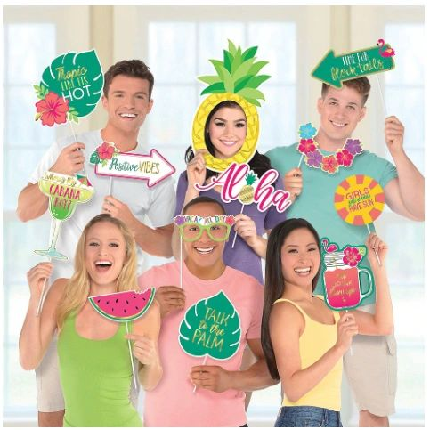 Aloha Jumbo Photo Props Kit, 12ct