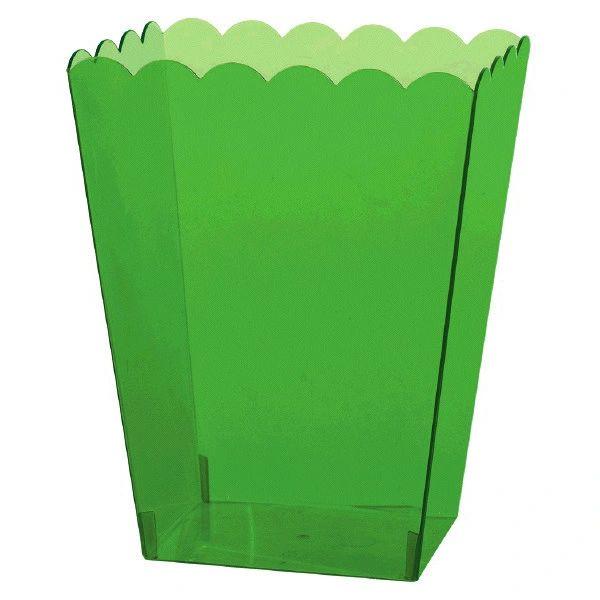 Large Kiwi Plastic Scalloped Container