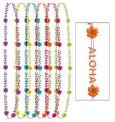 "Aloha Bead Necklaces, 32"" - 6ct"