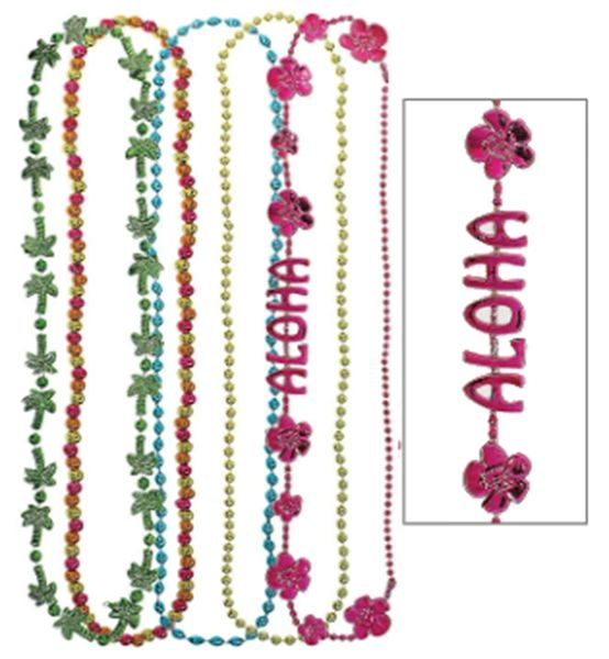 """Multi Pack Tropical Necklace, 32"""" - 5ct"""