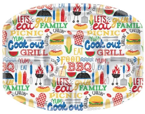 BBQ Plastic Sectional Platter