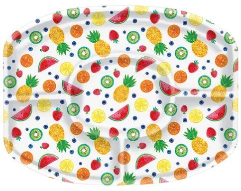Fruit Plastic Sectional Platter