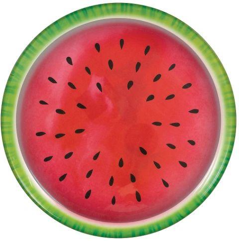 """Watermelon Melamine Platter, 13 1/2"""""""