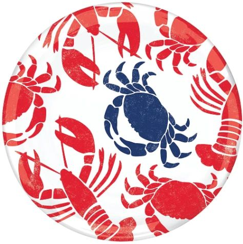 "Seafood & Summer Round Platter, 14"""