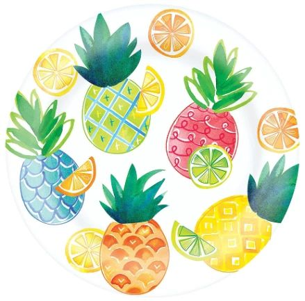 "Citrus Melamine Lunch Plate, 9 1/2"""