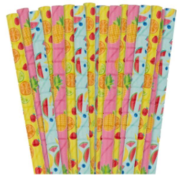 Fruit Paper Straws, 24ct