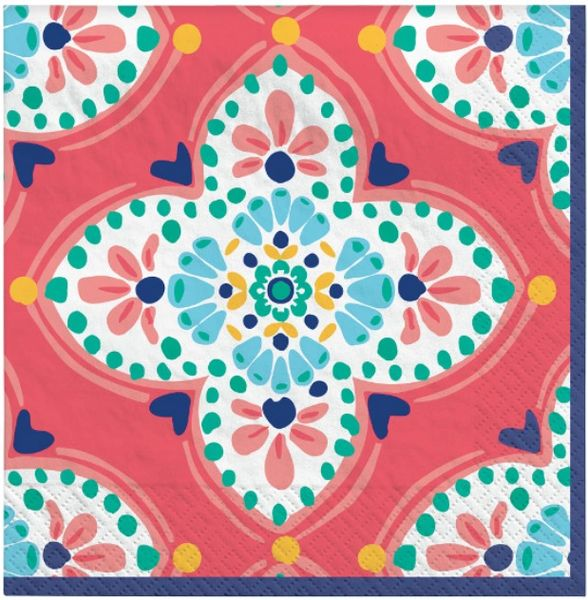 Boho Vibes Beverage Napkins, 16ct