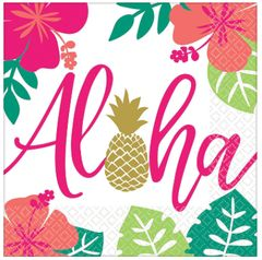 Aloha Luncheon Napkins, 16ct