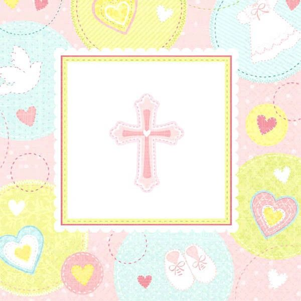 Pink Sweet Religious Beverage Napkins, 16ct