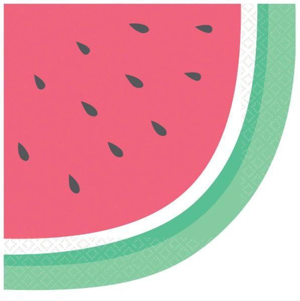 Just Chillin' Luncheon Napkins - Diecut Watermelon, 16ct