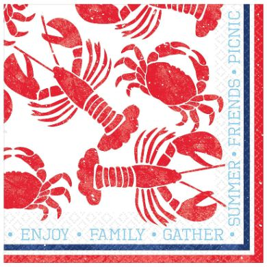 Seafood & Summer Luncheon Napkins, 16ct
