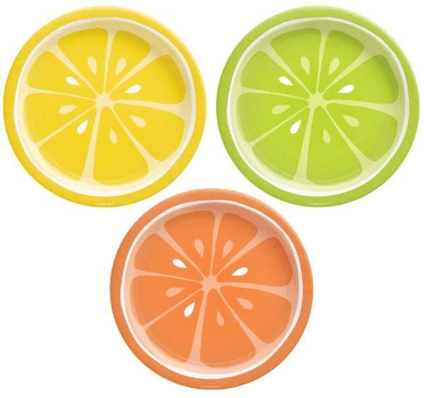 "Tutti Frutti Round Assorted Dessert Plates, 7"" - 8ct"
