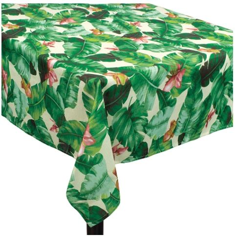 Tropical Jungle Fabric Table Cover