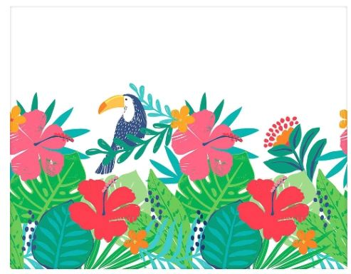 Tropical Jungle Plastic Table Cover