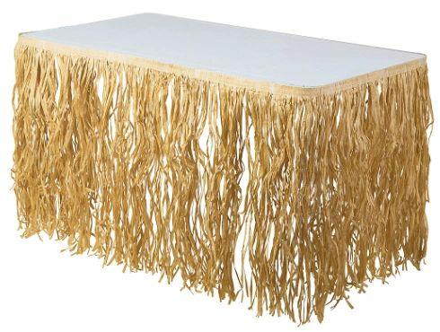 Natural Paper Raffia Table Skirt, 9ft