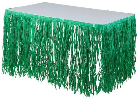 Green Grass Table Skirt