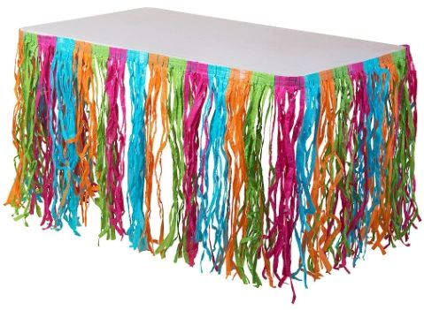 Multi-Color Grass Table Skirt